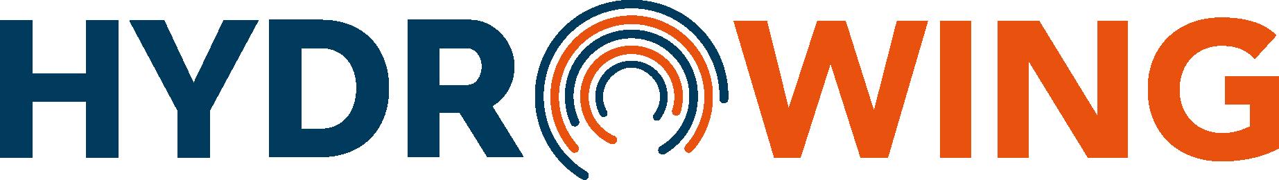 HydroWing logo blue and orange 400px